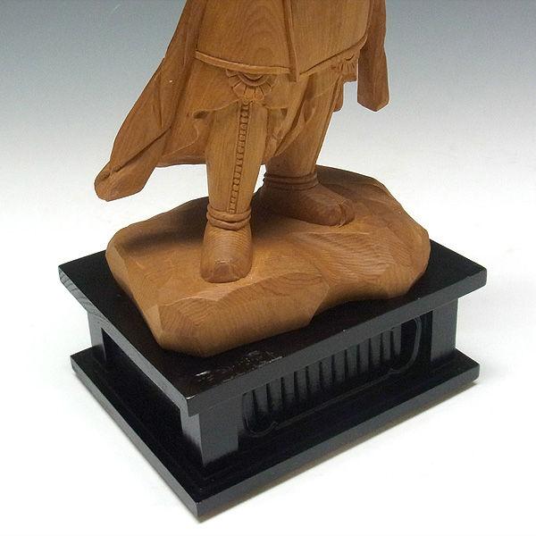 木曽桧/檜(きそひのき) 十二神将 申神 安底羅大将 あんちら・あんていら 38cm 【国内仏師(日本仏師)作品】 (販売・木彫り)