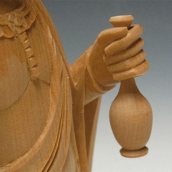 柘植/黄楊(ツゲ) 十一面観音菩薩 高さ:30cm (販売・木彫り)