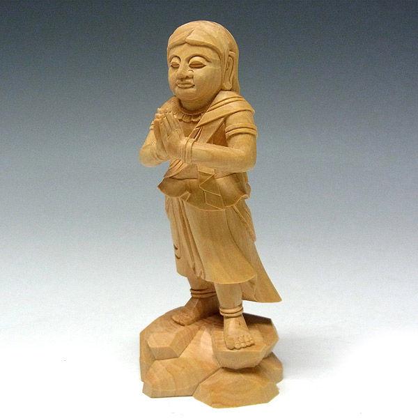 柘植/黄楊(ツゲ) 不動明王・二童子(不動三尊) 高さ22cm (販売・木彫り)