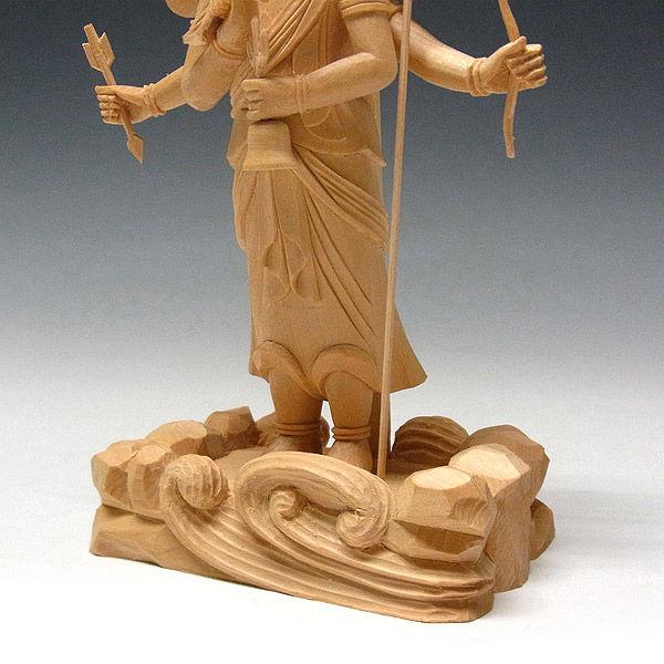 桧/檜(ヒノキ) 三宝荒神 高さ20cm (販売・木彫り)