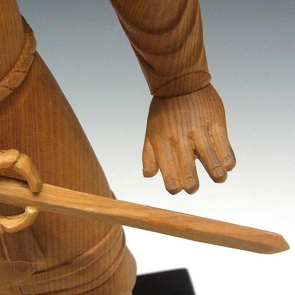木曽桧/檜(きそひのき) 十二神将 子神 毘羯羅大将 びから・びぎゃら 全体高:37cm 【国内仏師(日本仏師)作品】 (販売・木彫り)