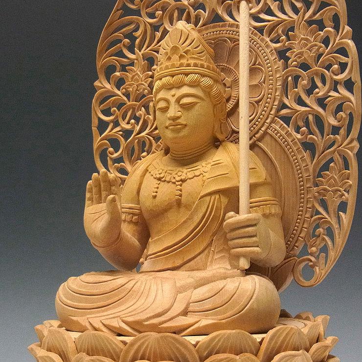 柘植/黄楊(ツゲ) 虚空蔵菩薩 高さ:24cm (販売・木彫り)