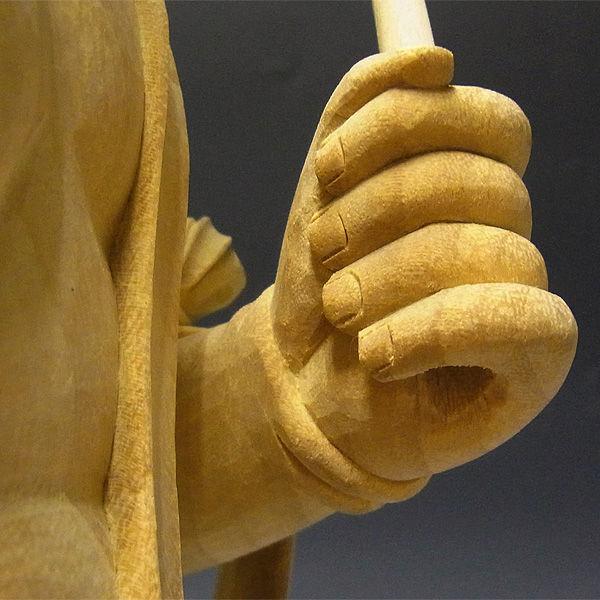 【特別プライス】楠/樟(クス) 二童子 矜羯羅(こんがら)・制吐迦(せいたか) 高さ:60cm (販売・木彫り)