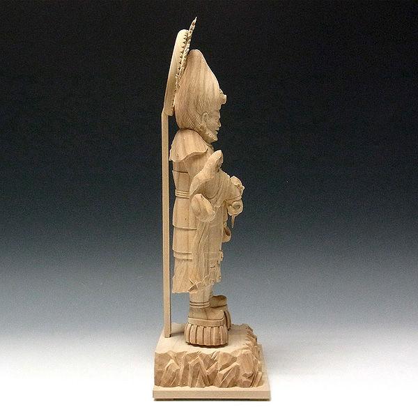 楠/樟(クス) 金毘羅大権現 高さ:38cm (販売・木彫り)