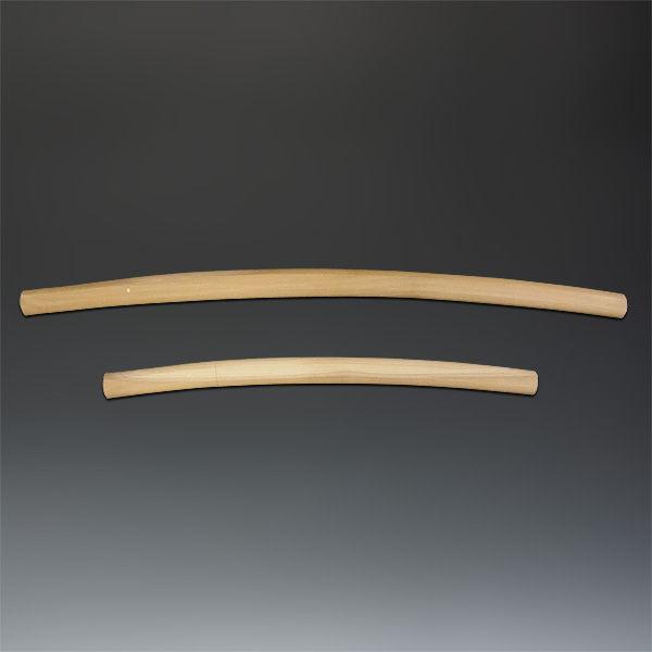 模造刀 白鞘(大・小)&木台 セット (販売・木彫り)