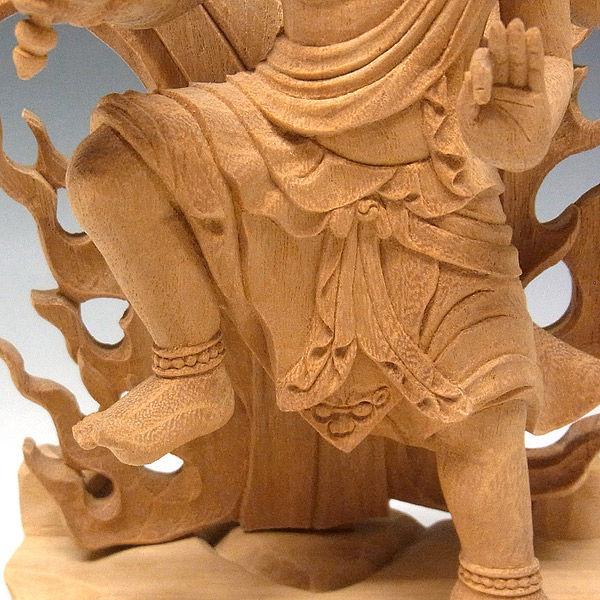 楠/樟(クス) 烏枢沙摩明王 高さ33cm (販売・木彫り)