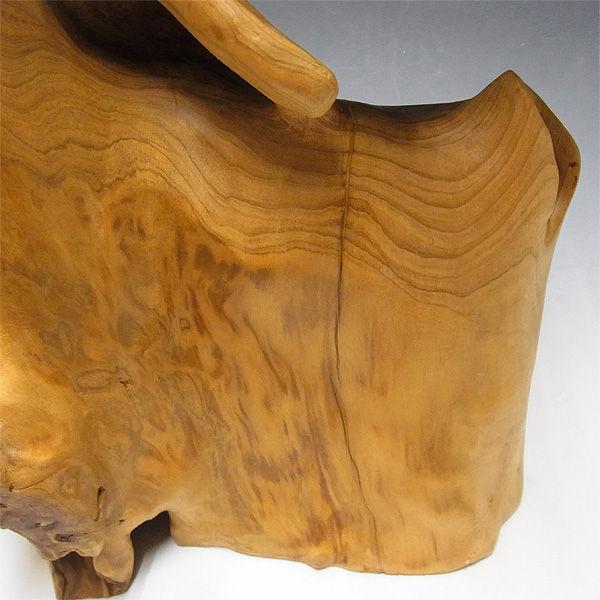【特別プライス】楠/樟(クス) 木彫りのふくろう 高さ:46.5cm
