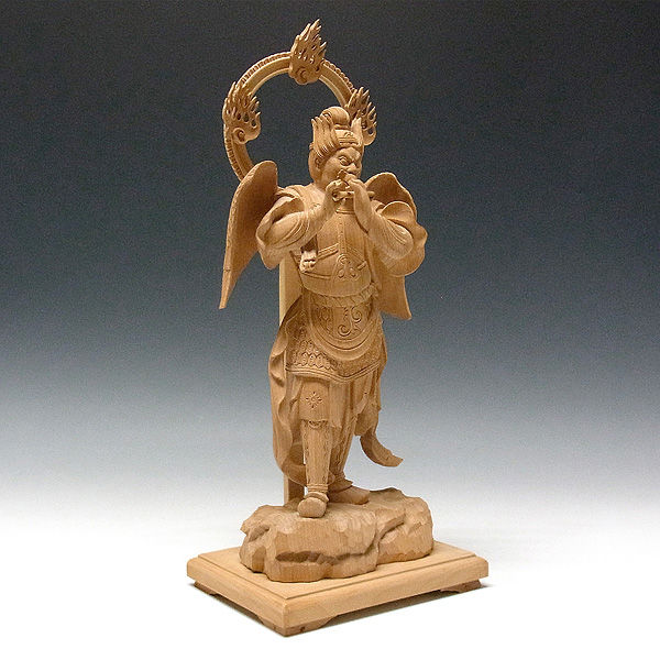 榧(カヤ) 迦楼羅天 高さ40cm (販売・木彫り)