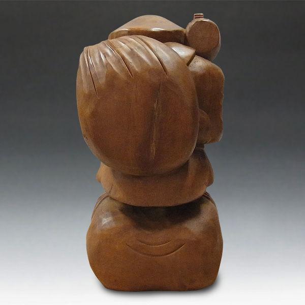 木曽桧/檜(きそひのき) 大黒天 高さ:58cm 【国内仏師(日本仏師)作品】 (販売・木彫り)