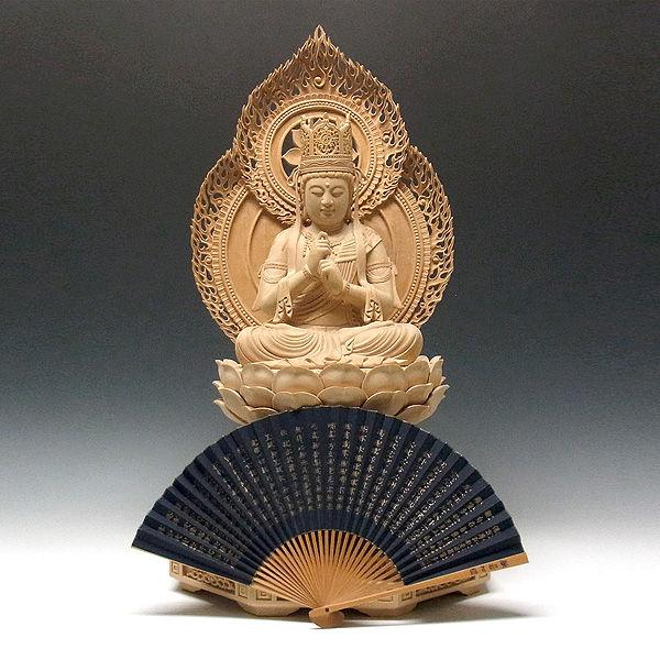 桧/檜(ヒノキ) 白木 大日如来 高さ67cm (販売・木彫り)