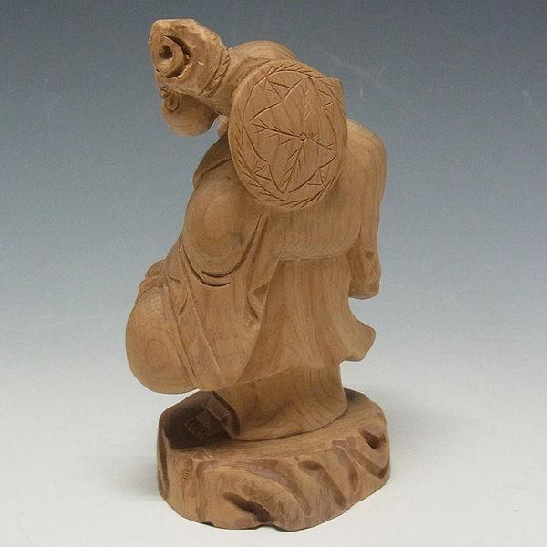 紅豆杉/赤豆杉(ベニマメスギ) 布袋 高さ:11cm (販売・木彫り)