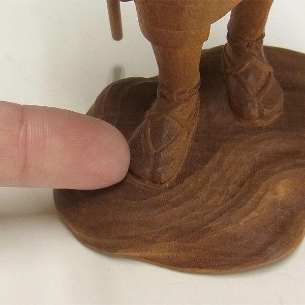 櫻/桜(サクラ) 旅人 木地仕上げ 高さ:20cm 【国内(日本人)仏師作品】 (木彫り・販売)