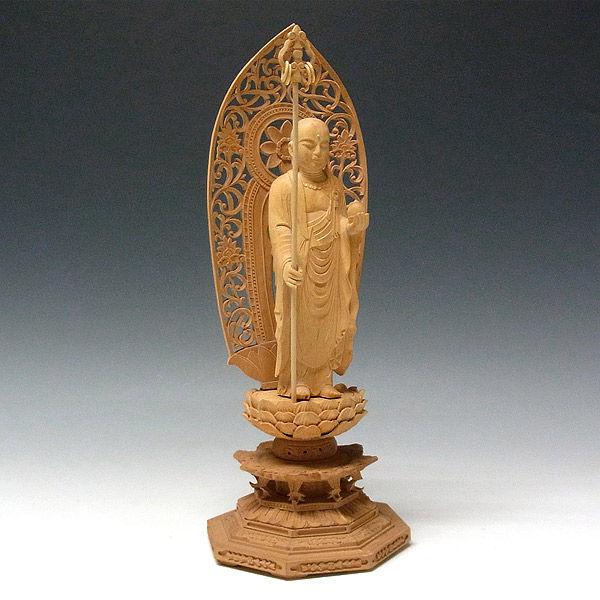柘植/黄楊(ツゲ) 地蔵菩薩 (立像) 高さ33cm (販売・木彫り)