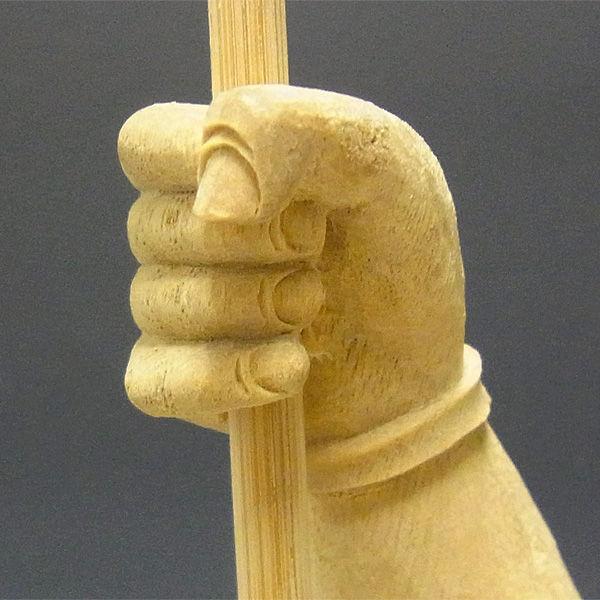 【特別プライス(訳あり・アウトレット)】楠/樟(クス)白木 毘沙門天 高さ:65cm (販売)