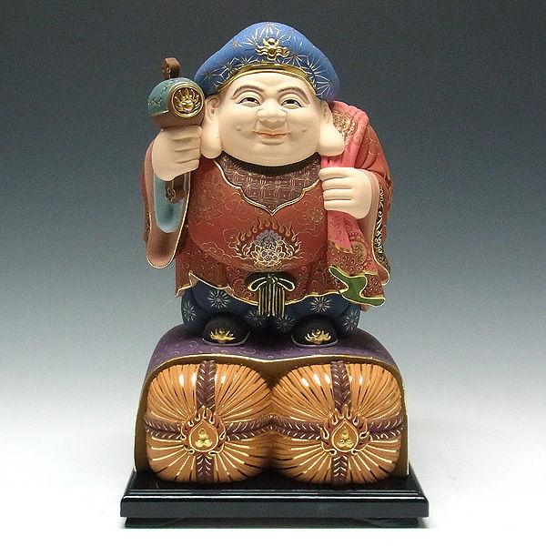 楠/樟(クス) 極上彩色 大黒天 高さ:36cm (販売・木彫り)