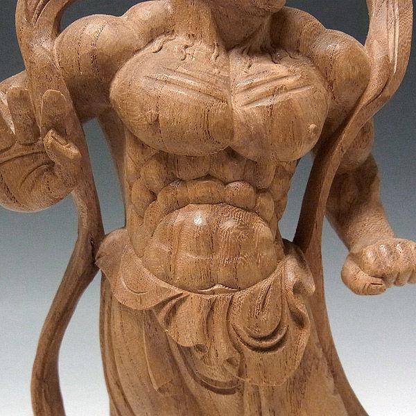 欅(ケヤキ) 仁王(金剛力士) 高さ31cm (販売・木彫り)