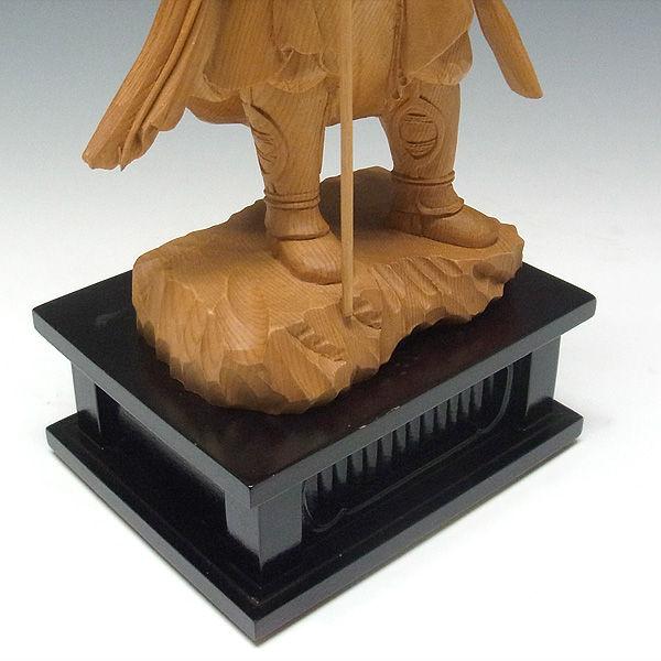 木曽桧/檜(きそひのき) 十二神将 酉神 迷企羅大将 めきら 37(持物含むと40)cm 【国内仏師(日本仏師)作品】 (販売・木彫り)