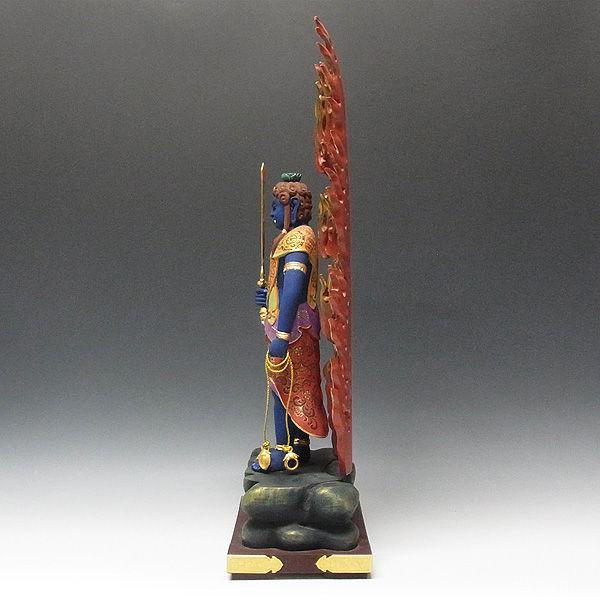楠/樟(クス) 彩色 不動明王 立像 高さ73cm (販売・木彫り)