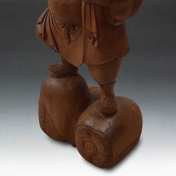 木曽桧/檜(きそひのき) 大黒天 高さ:90cm 【国内仏師(日本仏師)作品】 (販売・木彫り)