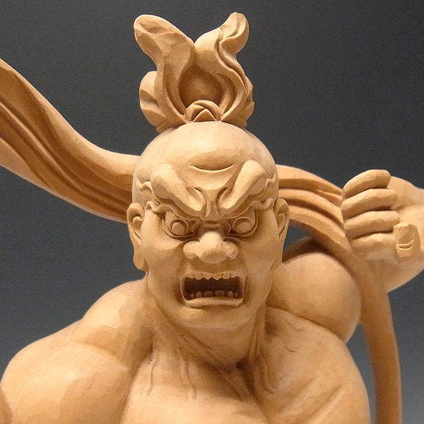 柘植/黄楊(ツゲ) 仁王(金剛力士) 高さ:31cm (販売・木彫り)