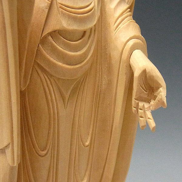 柘植/黄楊(ツゲ) 阿弥陀如来 高さ28cm 浄土宗 お仏壇向け本尊 (販売・木彫り)