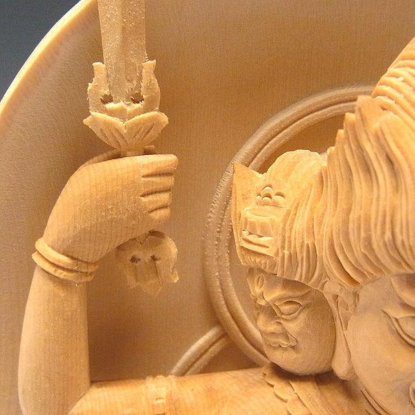 桧/檜(ヒノキ) 馬頭観音 高さ:23cm (販売・木彫り)