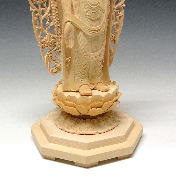 桧/檜(ヒノキ) 十一面観音菩薩 高さ34cm (販売・木彫り)
