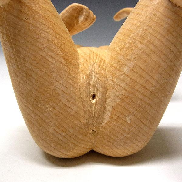 桧/檜(ヒノキ) 弁財天 高さ:21cm (販売・木彫り)