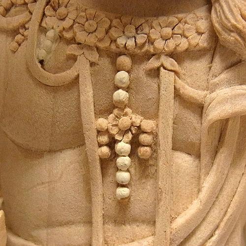 楠/樟(クス) 白木 半跏不動明王 巻光背 高さ47cm (販売・木彫り)