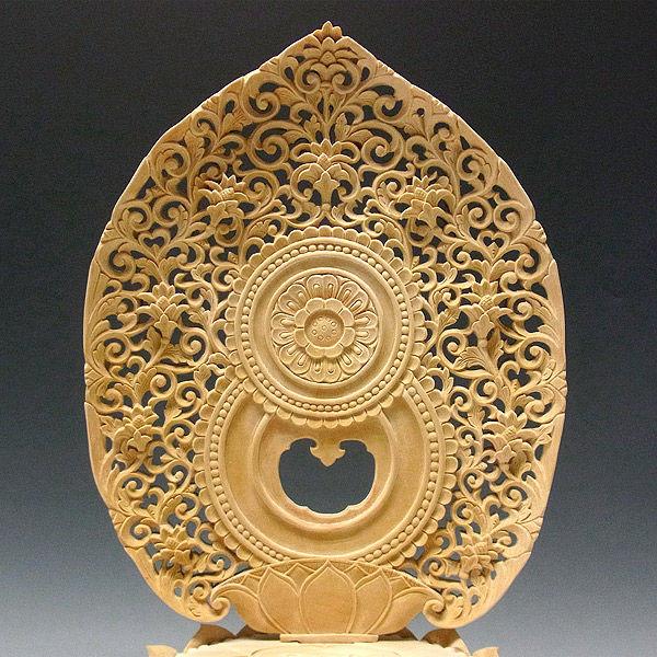 榧(カヤ) 白木 薬師如来 高さ43cm (販売・木彫り)