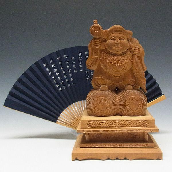 木曽桧/檜(きそひのき) 大黒天 高さ:26cm 【国内仏師(日本仏師)作品】 (販売・木彫り)