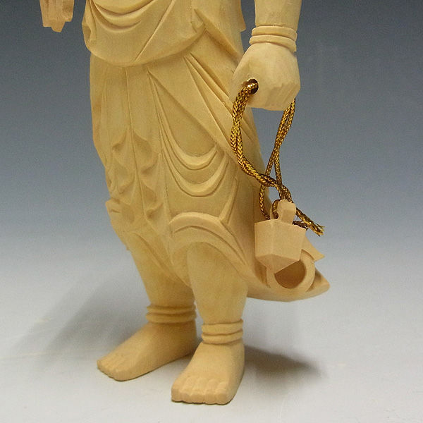 柘植/黄楊(ツゲ) 不動明王 高さ:21cm (販売・木彫り)