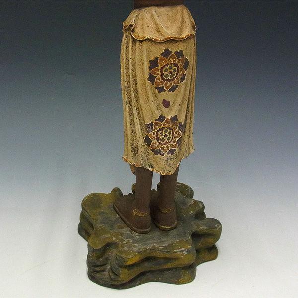 楠/樟(クス) 古色阿修羅 高さ:38cm (販売・木彫り)