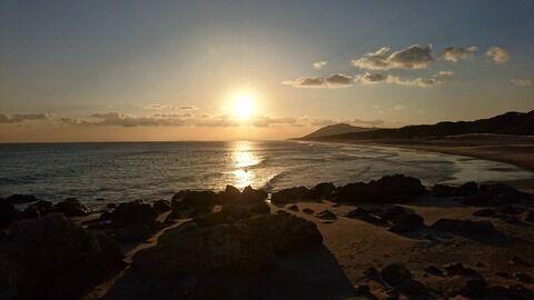 01月赤羽海岸の夕日