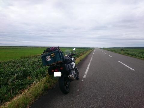 02ガードレールも電柱もなくどこまでもまっすぐな北海道の道 (2)