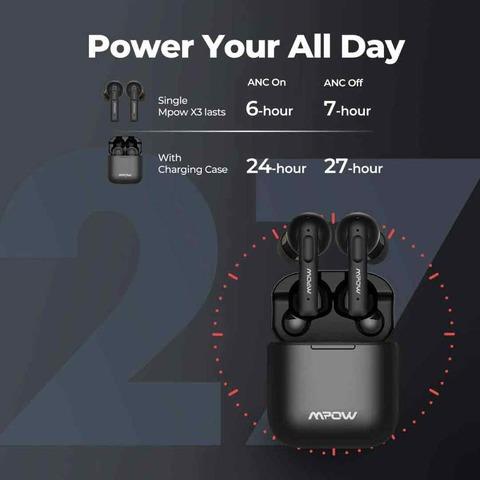 Mpow X3 ANC たった1万円でノイキャン対応の完全ワイヤレスイヤホンが発売されてしまう