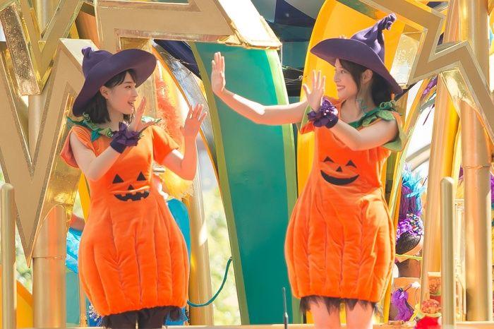 【芸能】広瀬アリス(22)・すず(19)姉妹がUSJハロウィーンでカボチャの仮装を披露「私たちが一番!」