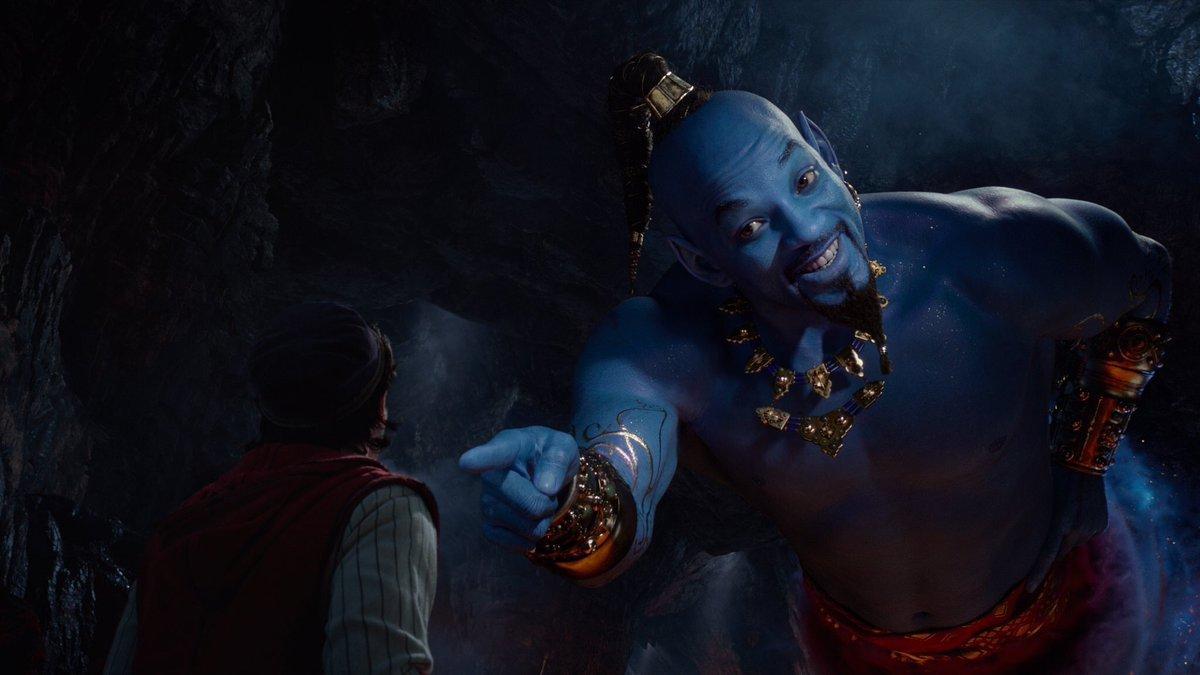 【悲報】実写版アラジン、ジーニーがただの青いウィルスミスで炎上してしまうwwwwwww