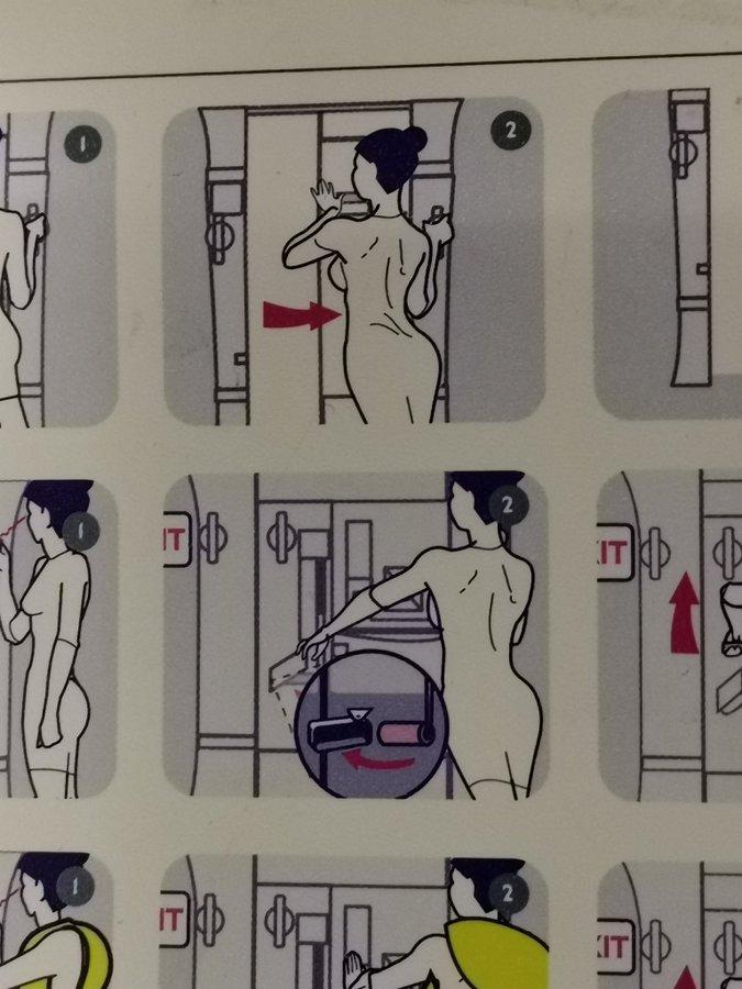 強調され過ぎ?ハンガリーの航空会社の「安全のしおり」がセクシー過ぎると批判に