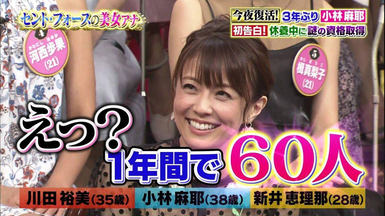 【悲報】小林麻耶さん、学生時代に60人から告白されていた