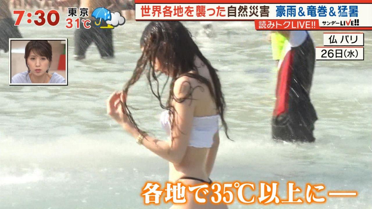 【速報】テレビ朝日でえちえちな水着JKが放送される事故
