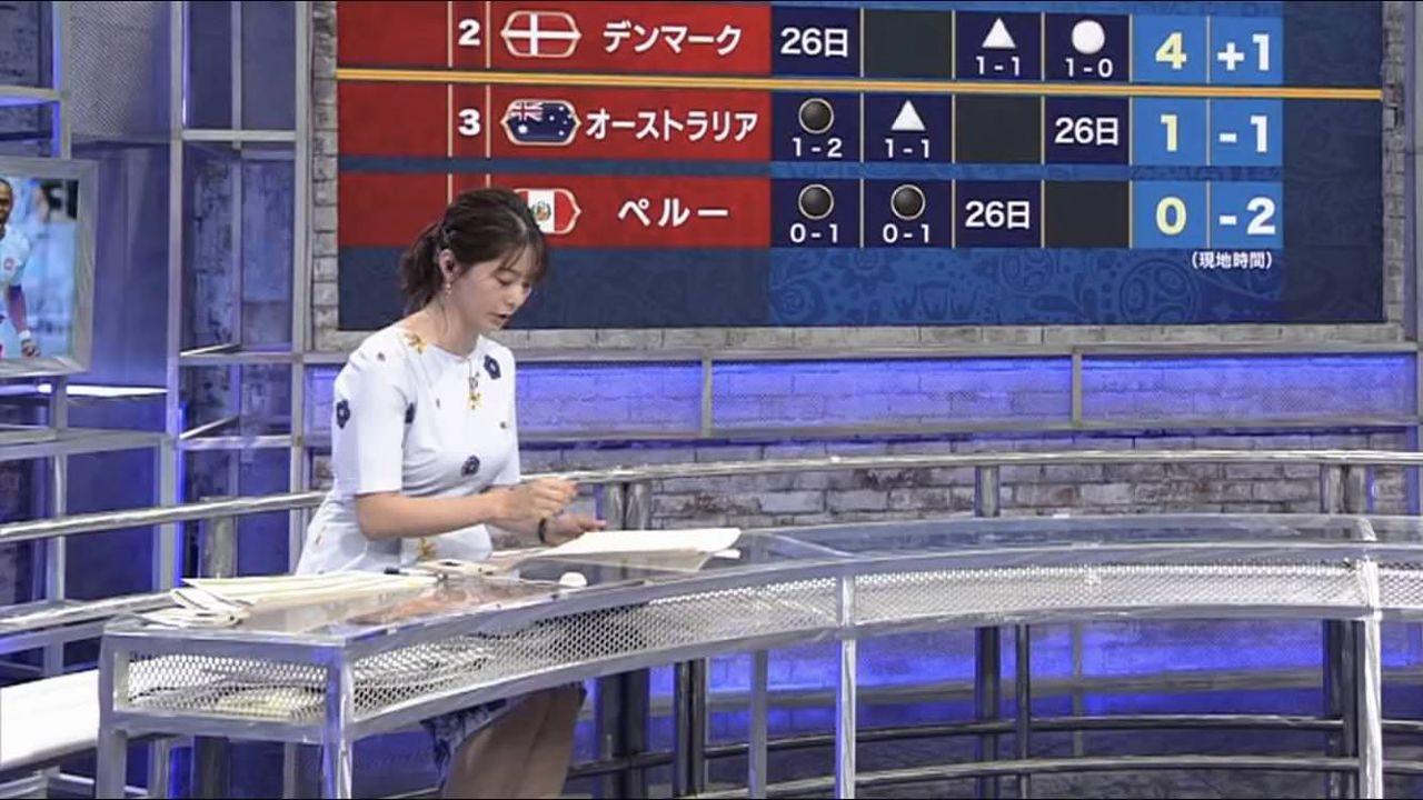 【画像】巨乳女子アナさん、座っているだけでエッチすぎる