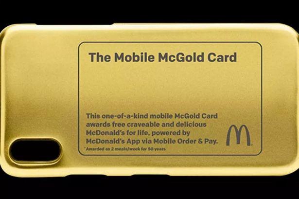 24金のマクドナルド・ゴールドカード爆誕!手に入れた人は50年無料でマックで食べ放題!