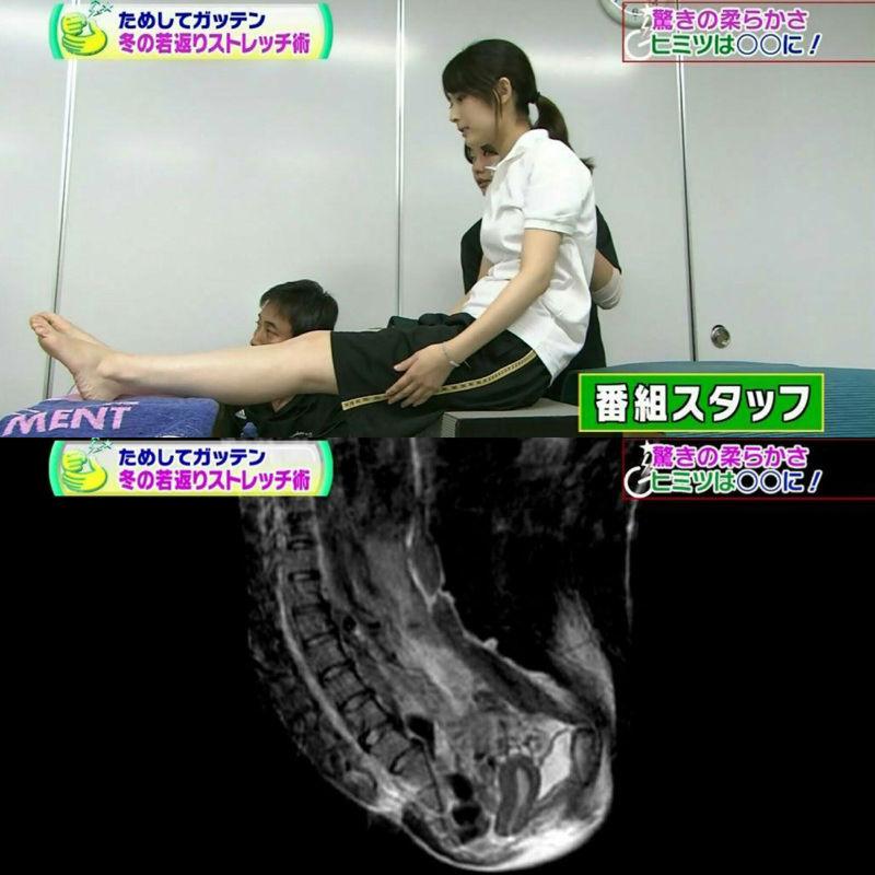 【朗報】テレビで女の子スタッフの断面図を公開