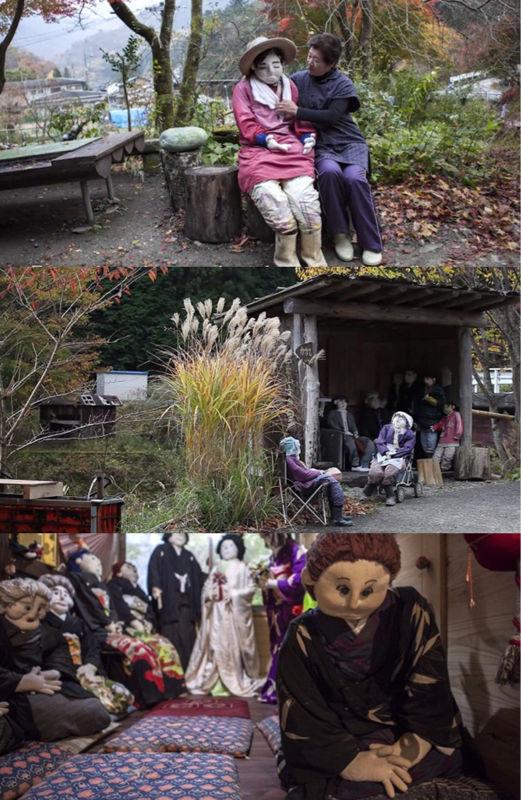 【画像】徳島県にある住民27人の限界集落さん、活気を出すために村のあちこちに260体のカカシを設置するwwwwwwwwww