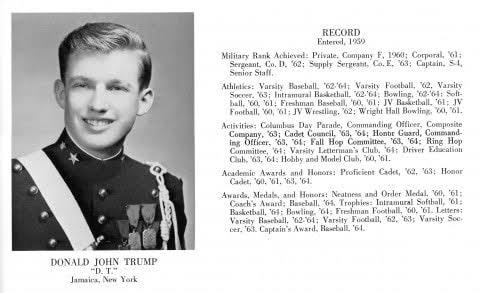 トランプ大統領の軍人時代wwwww