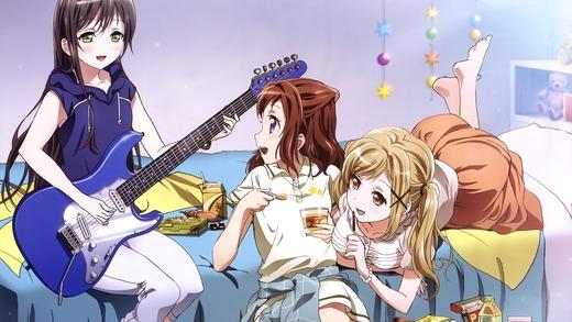 BanG Dream!、花園たえ(ギター)、戸山香澄、市ヶ谷有咲、高画質・PC壁紙・画像