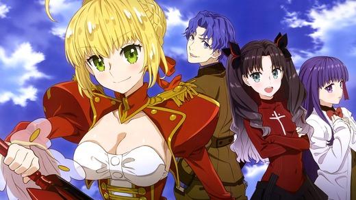 Fate/EXTRA Last Encore、セイバー、間桐シンジ、遠坂リン、間桐 桜、高画質、PC壁紙、画像