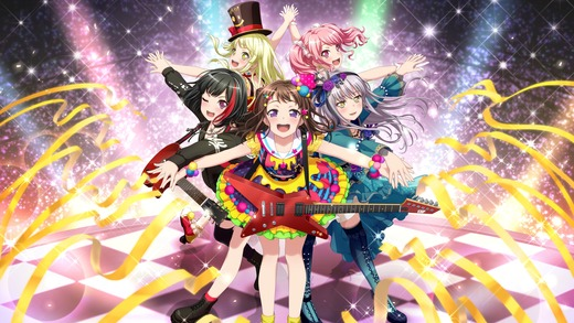 BanG Dream! FILM LIVE、弦巻こころ、美竹蘭、戸山香澄、湊友希那、丸山彩、高画質、PC壁紙、画像
