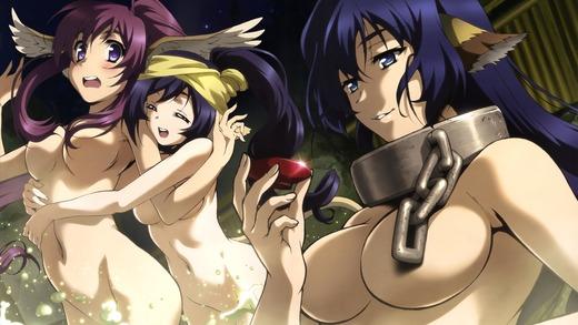 うたわれるもの、カルラ、トウカ、クオン、お風呂裸画像